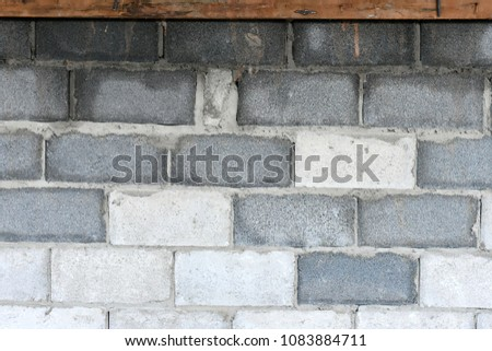 pile of cement blocks for construction #1083884711