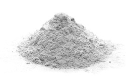 Pile of cement powder isolated on white background