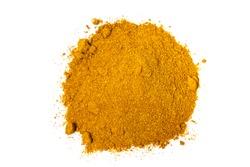 Pile of Chicken Masala Powder white background. Indian spice mix
