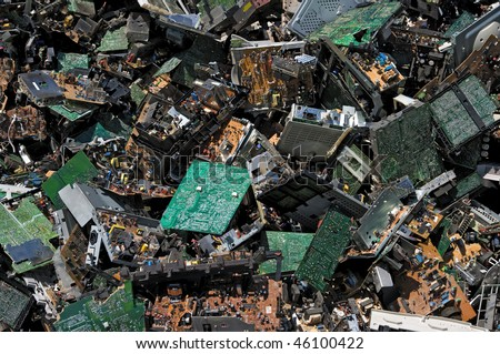 Pile of circuit board for recycling