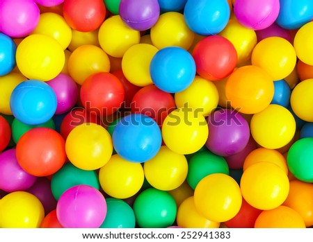 Pile of colorful little balls for children to play around