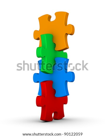 pile of colorful puzzle