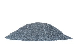 Pile of construction gravel or stone isolated on white background included clipping path.