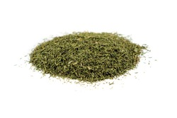 Pile of dill weed isolated on white background