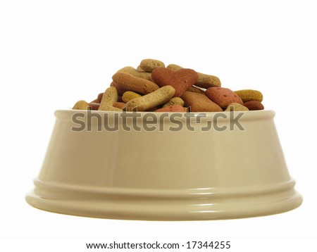dog biscuits in a
