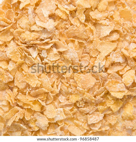 Pile of dry cornflakes. Background or texture