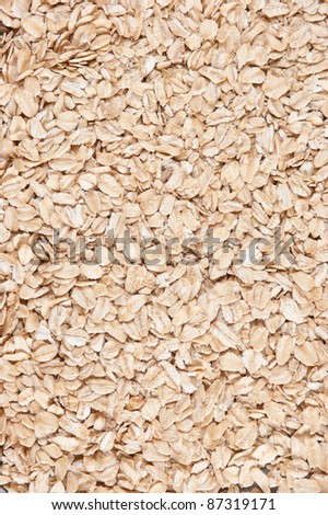 pile of dry oat flakes,  background