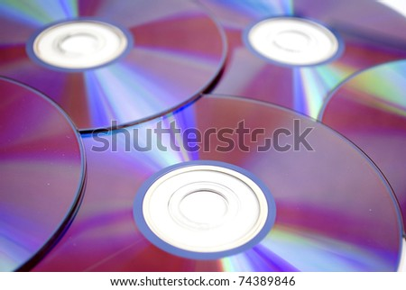 pile of few compact discs cd