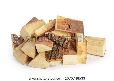 Pile of firewood isolated on a white background #1070748533