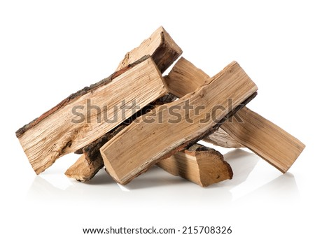 Pile of firewood isolated on a white background #215708326