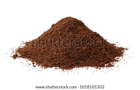 Pile of fresh ground coffee isolated on white #1018101502