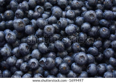 Pile of fresh ripe blueberries