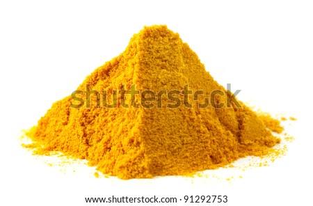Pile of ground turmeric