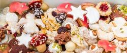 Pile of homemade Christmas Cookies
