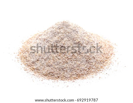 Shutterstock Pile of integral wheat flour isolated on white