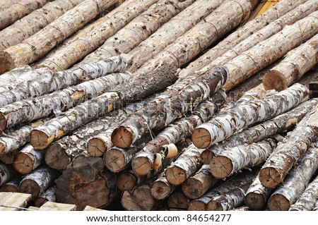 pile of logs as background