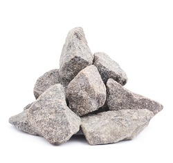 Pile of multiple granite stones isolated over the white background