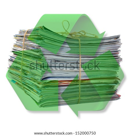 Pile of newspapers ready to recycling