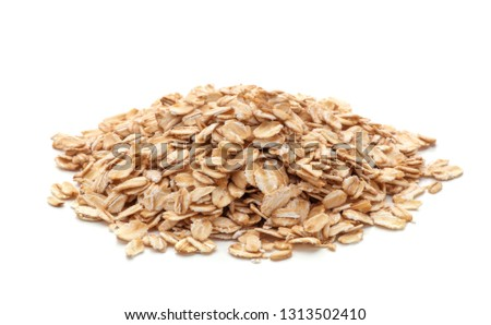 pile of oatmeal isolated on white background #1313502410