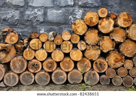 Pile of old firewood