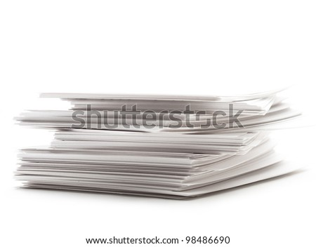 Pile of paper cards
