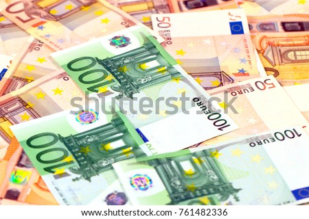 pile of paper euro bills as an...