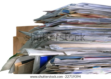 Pile of paper, letters and such