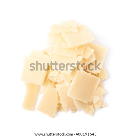 Pile of parmesan cheese flakes