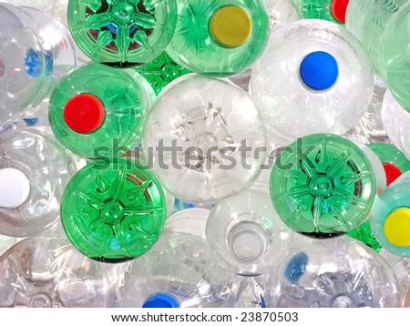 Pile of Plastic Beverage Bottles