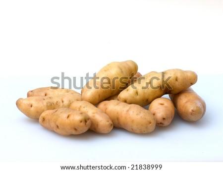 Pile of raw potatoes Stock fotó ©