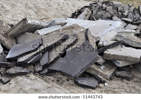 Pile of rubble