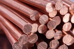 Pile of Scrap Copper Rod