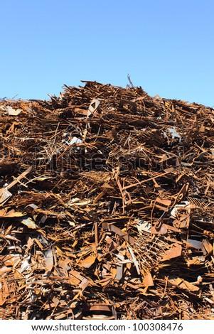 Pile of scrap metal - stock photo