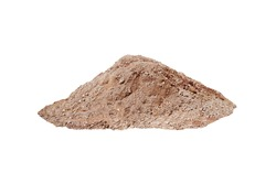 pile of soil, heap of dirt isolated on white background.