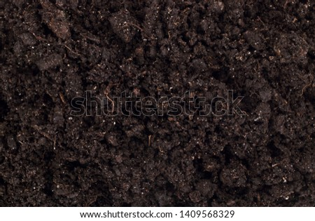 Pile of soil isolated on white background #1409568329