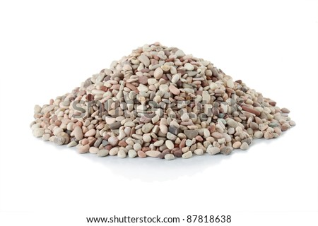pile of stone isolated over white background