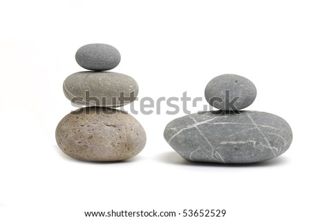 pile of stones on white