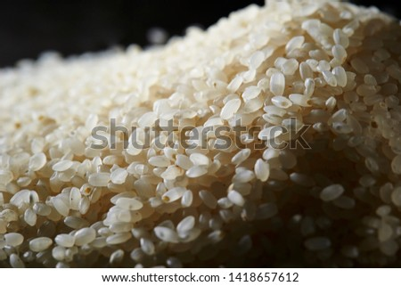 Pile of uncooked rice background