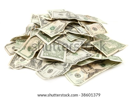 Pile of US Paper Currency