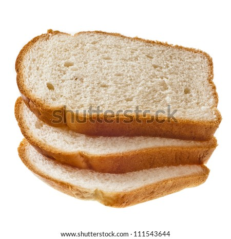 pile of wheat bread  isolated on a white background