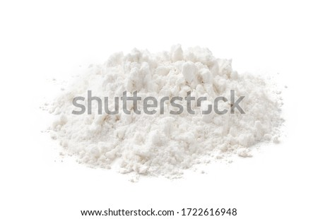 Pile of wheat flour isolated on white background Foto d'archivio ©