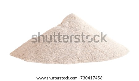 Pile of White Sand Isolated on White Background. #730417456