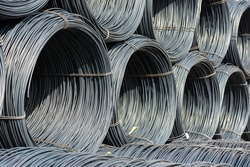 Pile of wire rod or coil for industrial usage