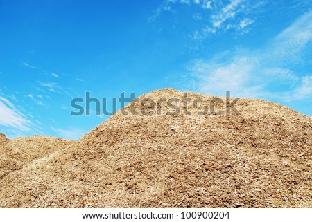 Pile of wood chips