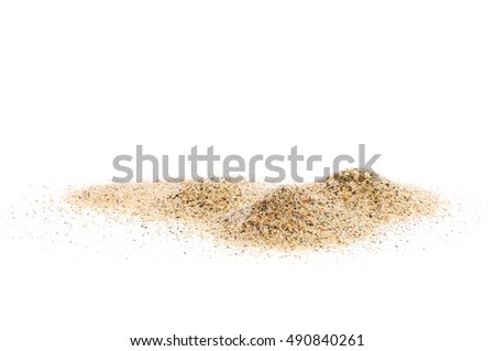 pile sand isolated on white background and texture #490840261
