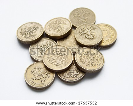 piled one pound coins