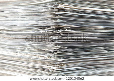 piled up documents prepared to check