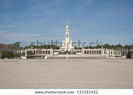 Pilgrimage catholic center in Fatima, Portugal