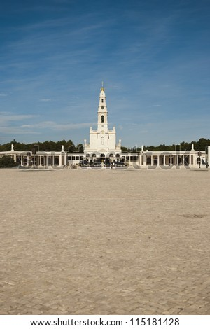 Pilgrimage catholic center in Fatima, Portugal - stock photo