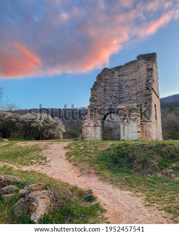 Pilisborosjeno, Hungary - The copy of the famous castle of Eger at Nagy-Kevely. Stock fotó ©
